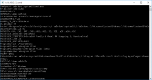 Remote windows command prompt