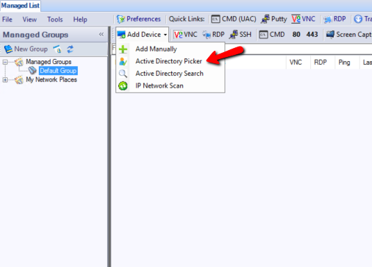 VENM Active directory import