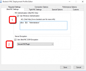 Deploy UltraVNC with Windows Login and Encryption